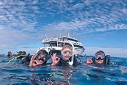 Snorkeling beside ScubaPro with Pro Dive Cairns